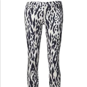 7 For All Man Kind Leopard Skinny Jeans